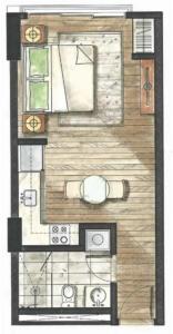 32 Sanson | Studio layout