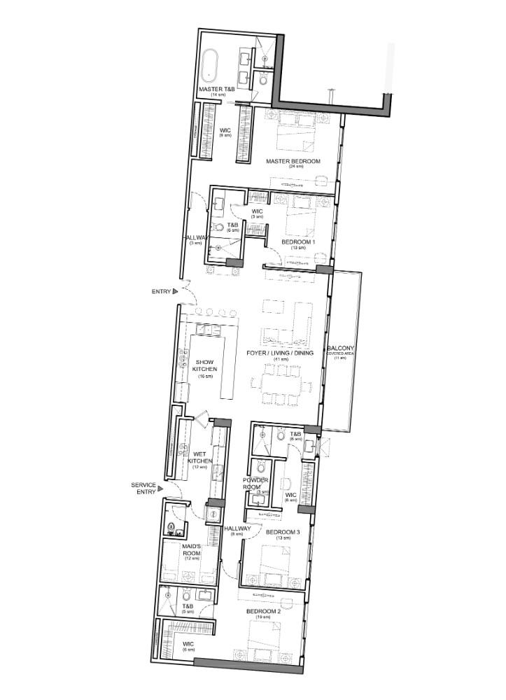32 sanson bedroom floor plan