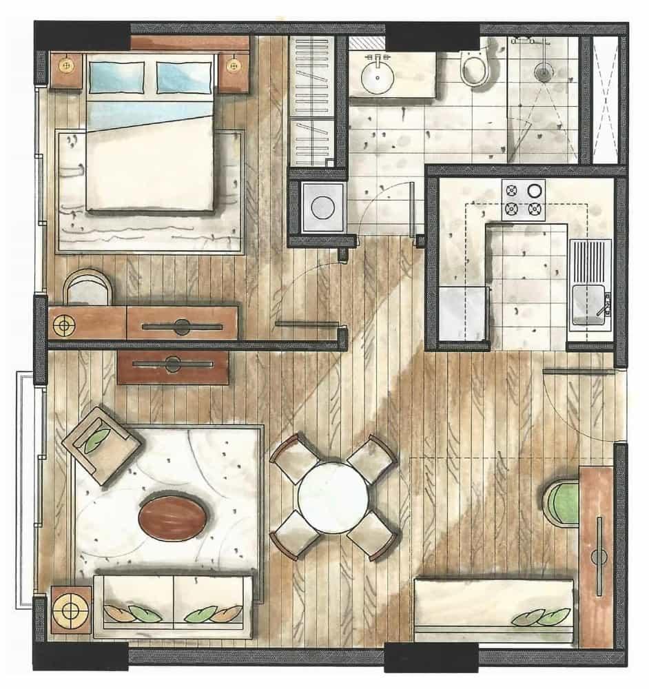 32 sanson 1 bedroom floor plan