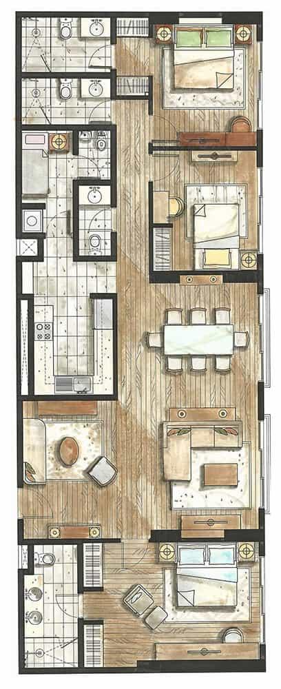 32 sanson 3 bedroom floor plan