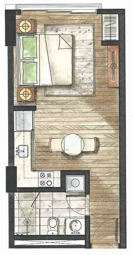 32 sanson studio floor plan