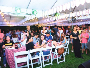 Outdoor picnic themed event
