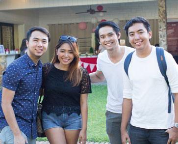 Eric Nubla, Shari Quimbo, Karlo Lim, and Nath Ybañez