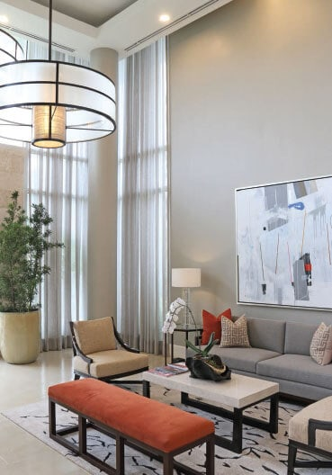 Posh and elegant high ceilings